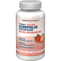 AMERICAN HEALTH CHEWABLE ACIDOPHILUS AND BIFIDUM NATURAL STRAWBERRYWAFERS