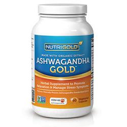 Ashwagandha Gold - 500 mg - Featuring Organic KSM-66