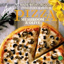 Mushroom and Olive Pizza