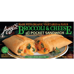 Broccoli and Cheese in a Pocket Sandwich