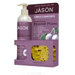 Frosted Plum Body Wash With Free Bath Sponge