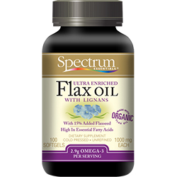 Ultra Lignan Flax OIL Softgels, Organic