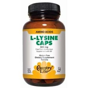 L-lysine 500 Mg W/b6 50 Vcaps