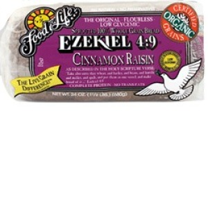 Organic Ezekiel 4:9 Cinnamon Raisin Sprouted Whole Grain Bread